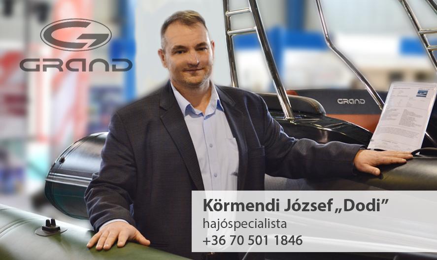 Körmendi József Grandboats specialista